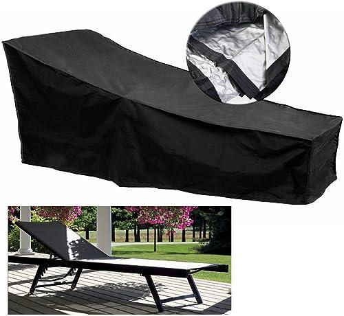 LaDicha 210X75X40Cm Lounge Chaise Meuble Housse Imperméable pour La Prougeection Extérieure De La Poussière Patio Pelouse