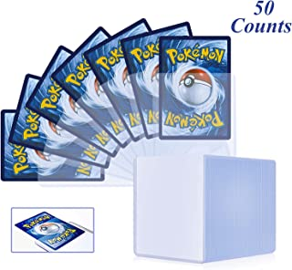 50 Counts Top Loaders Card Sleeves, Penny Sleeves TopLoaders for Trading Cards, Cards Protectors Fit for Pokemon, MTG, YuG...
