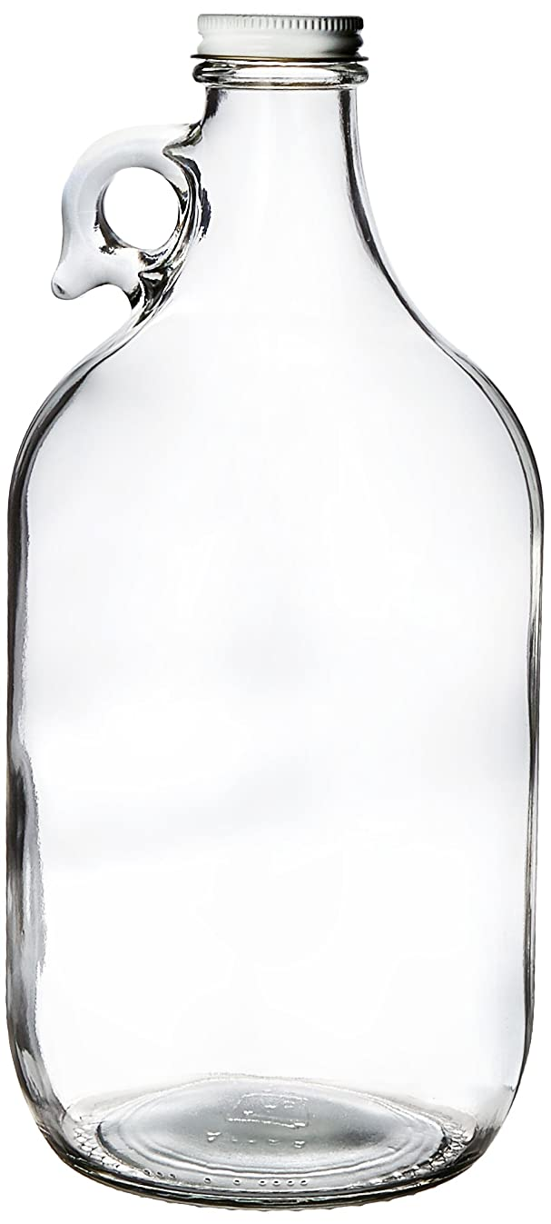 Kombucha Brooklyn 13-DXKS-HM6G Growler, Clear Glass Half-Gallon (64oz) with lid