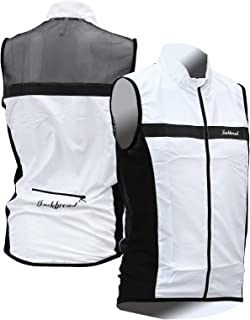 Cycling Bicycle Bike Outdoor Sleeveless Jersey Wind Vest White