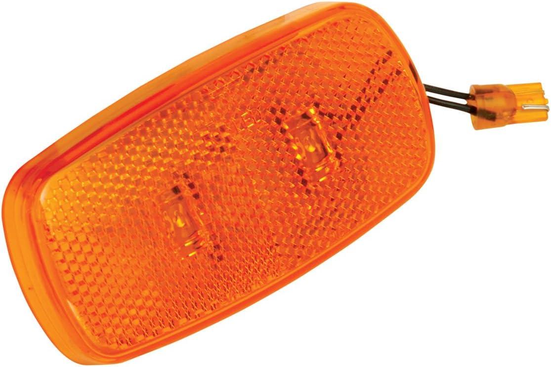 59 Series Side Marker Trailer Light Lens; Amber Bargman 34-59-012 2 Pack