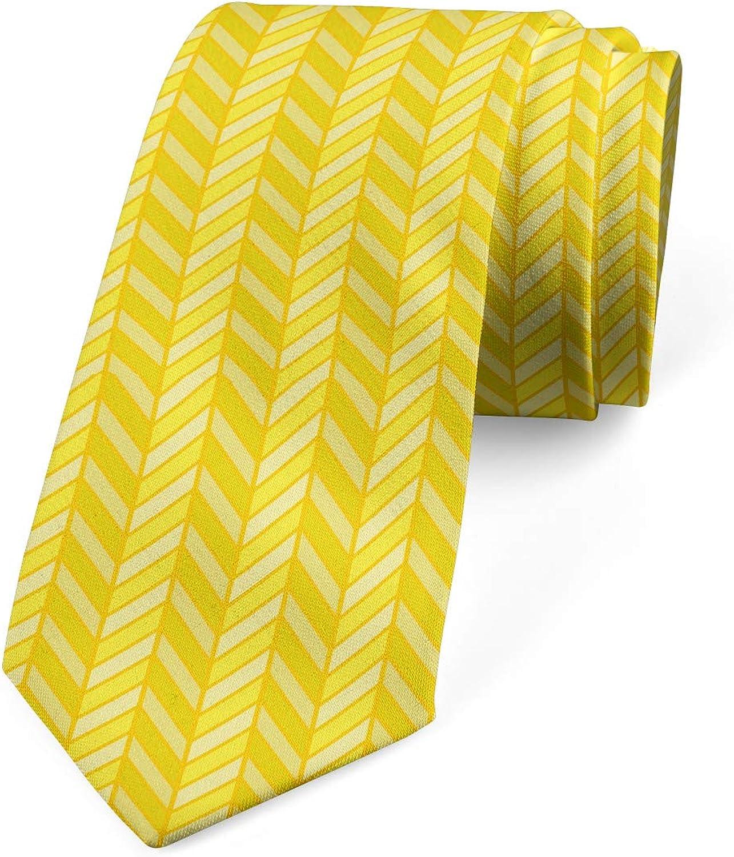 Ambesonne Men's Tie, Vertical Retro, Necktie, 3.7