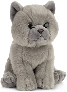 Living Nature Soft Toy - Plush Pet Animal, British Grey Shorthair Kitten (18cm) - Realistic Soft Toys with Educational Fac...