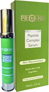 Peptide Complex Serum – Copper Peptide, Swiss Apple Stem and Argirline - Rejuvenate By Encouraging Cell Turnover and Revealing Youthful Looking Skin a Must for Mature & Aging Skin Perfection