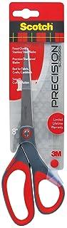 Scotch Precision Scissor, 8-Inches, Grey/Red