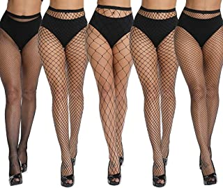 High Waist Tights Fishnet Stockings Thigh High Stockings...