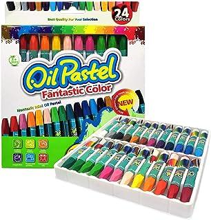 AIFFERA روغن پاستل ، 24 رنگ روغن پاستل ست برای کودکان ، مداد رنگی برای دانش آموزان کودکان ، فعالیت های داخلی در خانه ، لوازم مدرسه هنر