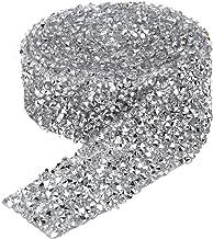 150cm/180cm strass ketting, sprankelende lijm terug kristal decoratieve banding riem 3cm breedte strass trimmen lint diy h...