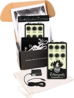 Earthquaker Devices Afterneath Otherworldly Reverberation Machine Invert Glow-in-the-Dark v2 and Truetone 1 Spot Space Saving 9v Adapter