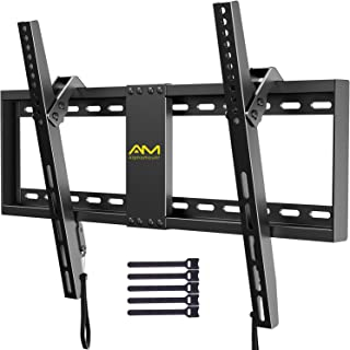 AM alphamount Tilting TV Wall Mount Bracket for 32-82 Inch LED LCD OLED Flat Screen/Curved TVs-Low Profile TV Wall Mount H...