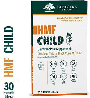 Genestra Brands - HMF Child - Probiotic Formula to Support Healthy Gut Flora* - Blackcurrant Flavor - 30 Chewable Tablets