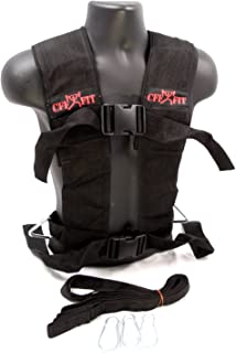 CFF Multi Purpose Sled Harness Vest - Black/Red - Small/Medium - for use with Weighted sled and in Speed and Strength Training