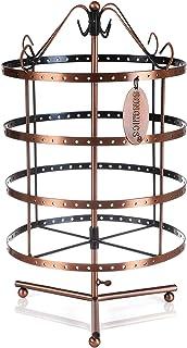 SONGMICS Présentoir, Porte-Bijoux, Rangement Bijoux, Organisateur, 4 Niveaux, Bracelet, Collier, Boucles d'Oreilles, Bague...