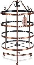SONGMICS Expositor de pendientes collares pulseras Soporte para joyería Giratorio Color cobre JDS012