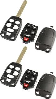 Case Shell Key Fob Remote fits 2011 2012 2013 Honda Odyssey, Set of 2