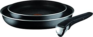 Tefal L2009442 Ingenio Essential Non-Stick Starter Kit Compatible with All Hobs Excluding Induction, Metal, Black, 3 Pieces