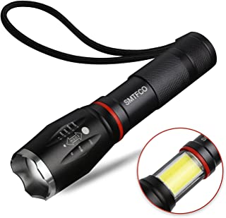 LED S800 Flashlight with COB Work Light and Magnet, High Lumen, Zoomable, 5 Modes, Water Resistant, As Seen on TV Flashlights - Best Camping, Emergency, Magnetic Light (1Pcs)