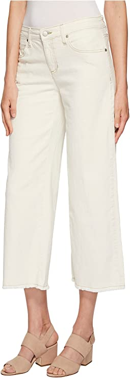 Ankle Wide Leg Jeans in Undyed Natural