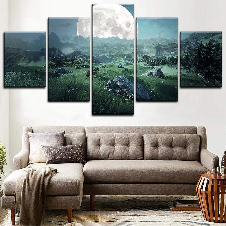 bajo precio del 40% WLHWLH Impresión en Lienzo de Pintura Pintura Pintura para Sala de Estar Arte de la Parojo Imagen 5 Piezas Juego Cartel decoración del hogar  a la venta