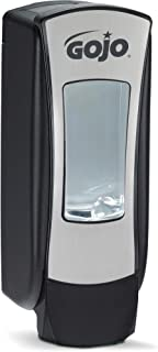 GOJO ADX-12 Push-Style Foam Soap Dispenser, Chrome/Black, for 1250 mL GOJO ADX-12 Soap Refills (Pack of 1)  � 8888-06,Brushed Chrome
