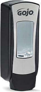 GOJO ADX-12 Push-Style Foam Soap Dispenser, Chrome/Black, for 1250 mL GOJO ADX-12 Soap Refills (Pack of 1)  – 8888-06,Brushed Chrome