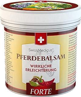 SwissMedicus - Pferdebalsam cálido extra fuerte, pomada Pferdesalbe Forte 500 ml, gel de masaje cálido para la espalda y l...