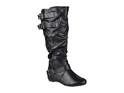 Journee Collection Tiffany Boot Wide Calf (Black) Women