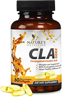 Cla 2000 mg - Extra Strength Natural Weight and Lean Muscle Support Supplement for Men and Women - Made in USA - Conjugate...