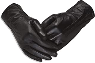 Quivano Luxury Soft Ladies Leather Gloves for Winter - Amber Label Range