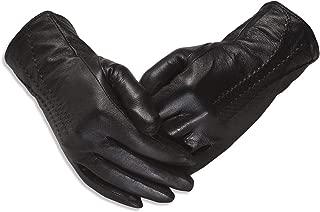 Quivano Luxury Soft Ladies Leather Gloves for Winter - Amber Label Range
