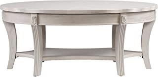 Furniture HotSpot - Oval Coffee Table – Whitewash - 44