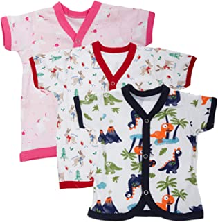 BAYBEE Baby Boys and Baby Girls Baby Cotton Jhabla/100% Cotton Baby Unisex Regular Fit Clothing Set - Baby Top Jablas/Newb...