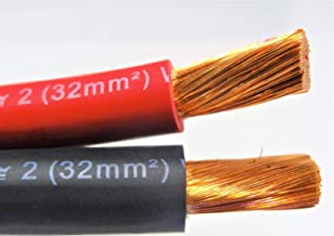 2 AWG EXCELENE WELDING CABLE BLACK OR RED MADE IN USA (10 FT, 50% RED / 50% BLACK)