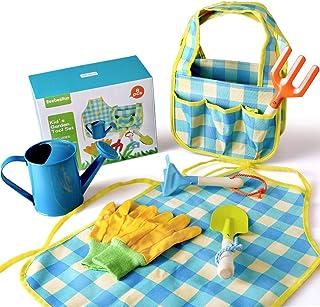 BeebeeRun Outillage de Jardin pour Enfant, Outil de Jardinage pour Enfant Comprend Sac à Main,Tablier, Arrosage Peut,Pell...