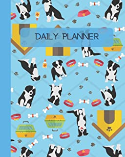 Daily Planner: Dogs - Blue Cover 8x10