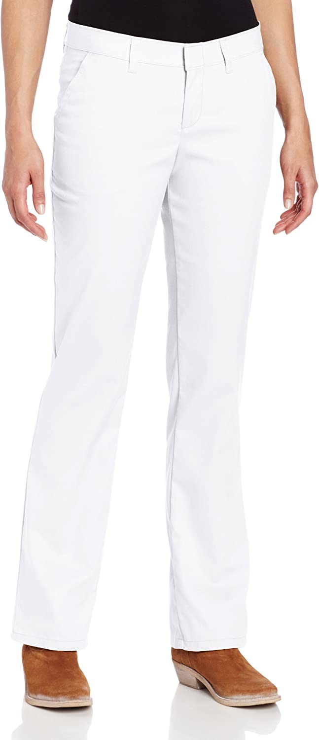 Dickies Women's Wrinkle Resistant Flat Front Twill Pant with Stain Release