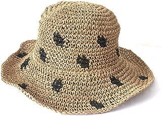Summer Beach Sun Hats for Women Foldable Floppy Lace Cotton Wide Brim Hat Caps Wide Brim Hat