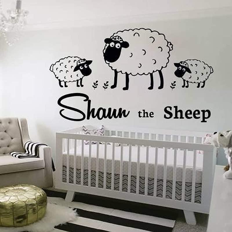 Amazing Home Decor Wall Decals Decal Vinyl Sticker Sheep Girl Boy Baby Children Nursery Bedroom Playroom Dorm Room Home Decor Interior Window Art Murals DD570 MX38