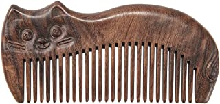 AOLLO Wooden Sandalwood Hair Combs for Women Men Wide & Fine Tooth Detangling Anti-Static Essentials Handmade Comb