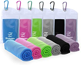 """Sukeen [6 Pack] Cooling Towel (40""""x12""""),Ice Towel,Soft Breathable Chilly Towel,Microfiber Towel for Yoga,Sport,Running,Gym..."""