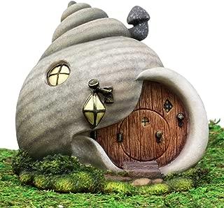 Ebros Gift Enchanted Fairy Garden Miniature Grey Helix Snail House Figurine 6.25