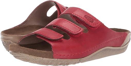 Red Vegi Leather