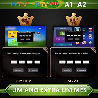 TV Box Brazil Code, Brazil TV Box Renew Code, A2 Renew Code,Brazil TV Box Renew Code, Activation Code for A1/A2/ HTV/IPTV 5/6,Subscription 16-Digit Renew Code,One Yea with Extra 1 Month subscrip