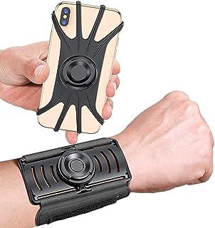 حزام ذراع تشغيل، سوار معصم قابل للدوران 360 درجة لحامل الهاتف المحمول للركض (iPhone 11 Pro Max،/11/Xs/X/8 Plus/7/6, Galaxy...