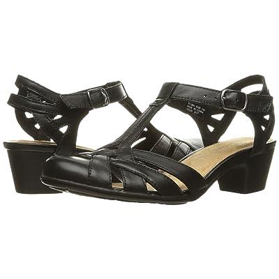 Rockport Nasira T-Bar2 (Black Leather) Women