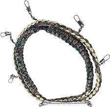Flugfiske snodd med flera klämmor, Flugfisk snodd praktiskt lättanvänd högkvalitativ nylon med flera metallspännen för FISKE