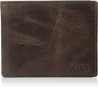 Fossil Men's Derrick Leather RFID Blocking Passcase Wallet
