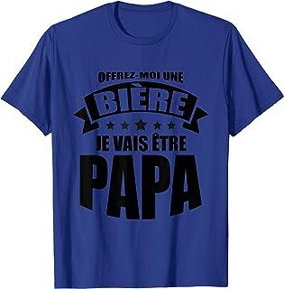 Homme Offrez-moi une bière je vais être papa T-Shirt