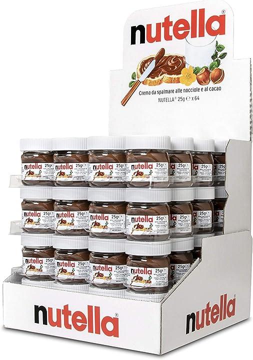 Nutella ferrero - crema da spalmare alle nocciole e al cacao, 64 mini vasetti da 25 g ognuno B07JHKLYXC