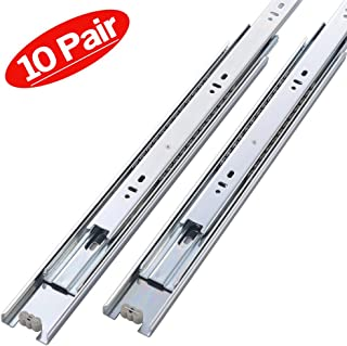 Friho 10 Pair of 10 Inch Hardware Ball Bearing Side Mount Drawer Slides, Full Extension, Available in 12'',14'',16'',18'',20'' Lengths